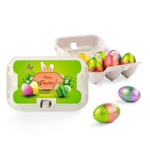 Oster Sixpack mit kleinen Schoko-Eiern